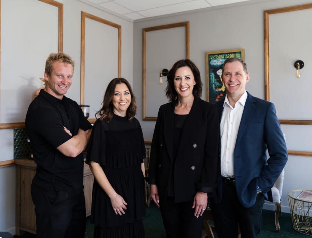 Management Team:  Dr. James Eastcott (shareholder at Omokoroa),  Corleah Willats (operations manager),  Dr. Estee Kriek and Dr. Riaan Kriek (Founders of ER Dental Group)